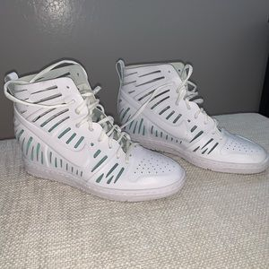 New Women's White Nike Ventilated Hightop Sneakers